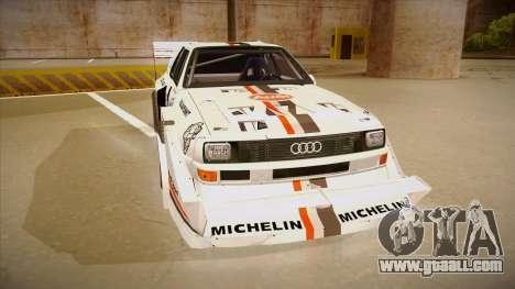 Audi Quattro S1 Pikes Peak for GTA San Andreas