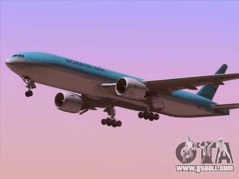 Boeing 777-2B5ER Korean Air for GTA San Andreas right view