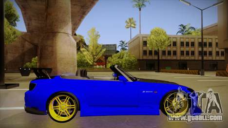 Honda S2000 C-West for GTA San Andreas back left view