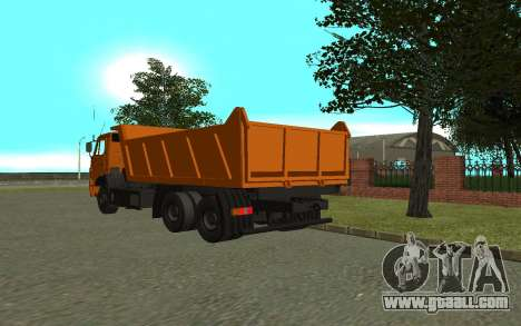 KAMAZ 6520 for GTA San Andreas back left view