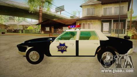 Fasthammer Police SF for GTA San Andreas left view