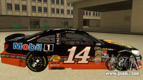 Chevrolet SS NASCAR No. 14 Mobil 1 Bass Pro Shop for GTA San Andreas back left view