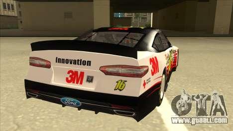 Ford Fusion NASCAR No. 16 3M Bondo for GTA San Andreas right view