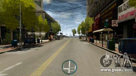 The central location of the radar for GTA 4 third screenshot