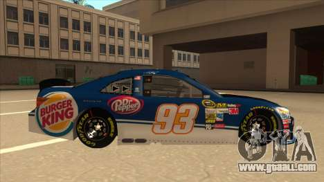 Toyota Camry NASCAR No. 93 Burger King Dr Pepper for GTA San Andreas back left view