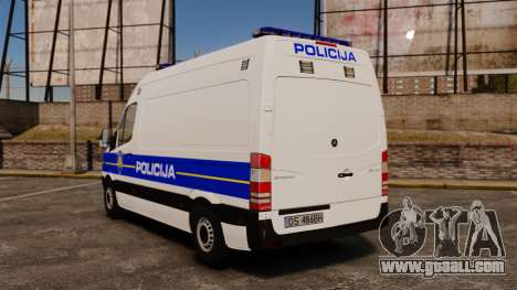 Mercedes-Benz Sprinter Croatian Police v2 [ELS] for GTA 4 back left view