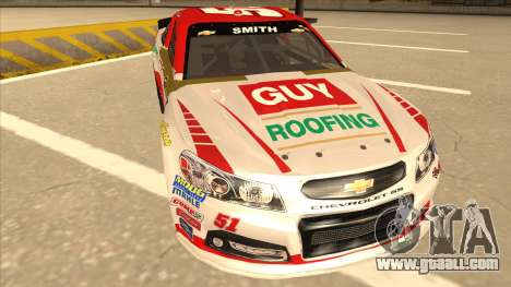 Chevrolet SS NASCAR No. 51 Guy Roofing for GTA San Andreas left view