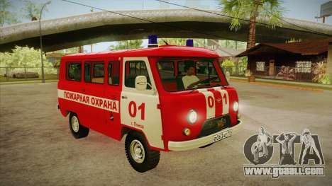 UAZ 452 Fire headquarters for GTA San Andreas back view