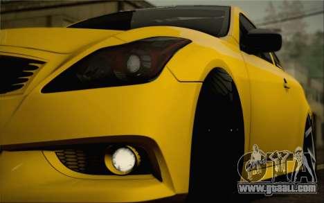 Infiniti G37 IPL for GTA San Andreas engine