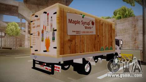 Chevrolet FRR Maple Syrup World for GTA San Andreas back left view