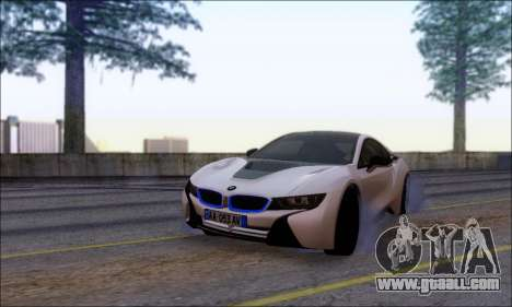 BMW I8 for GTA San Andreas back view