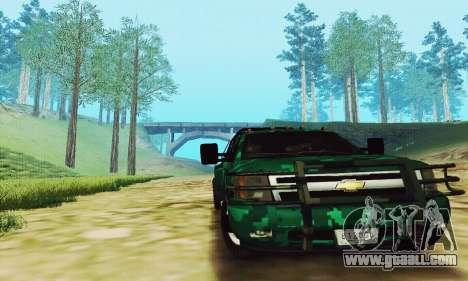 Chevrolet Silverado 3500 Military for GTA San Andreas left view