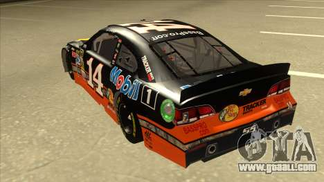 Chevrolet SS NASCAR No. 14 Mobil 1 Bass Pro Shop for GTA San Andreas back view