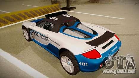 Porsche Carrera GT 2004 Police White for GTA San Andreas back view