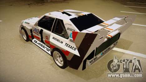 Audi Quattro S1 Pikes Peak for GTA San Andreas back view