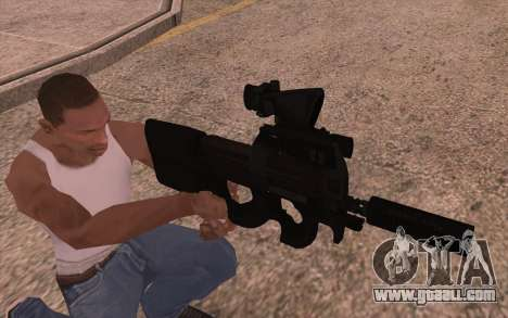 P90 AEG with flashlight for GTA San Andreas second screenshot