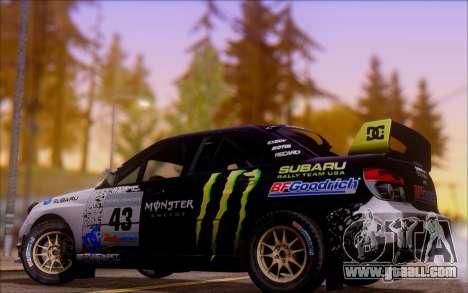 Subaru Impreza WRX STI WRC for GTA San Andreas back view