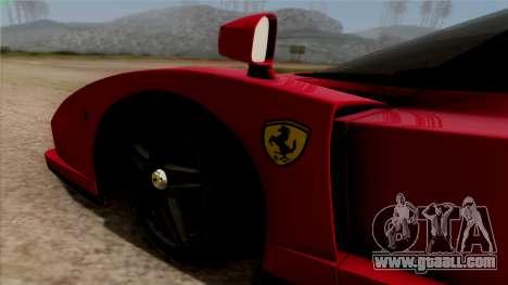 Ferrari Enzo 2002 for GTA San Andreas back view