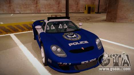 Porsche Carrera GT 2004 Police Blue for GTA San Andreas left view