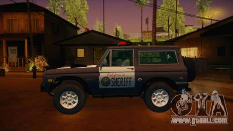 Ford Bronco 1966 Sheriff for GTA San Andreas left view