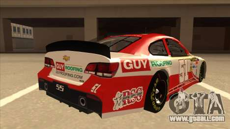 Chevrolet SS NASCAR No. 51 Guy Roofing for GTA San Andreas right view