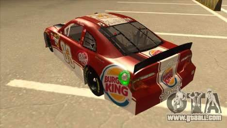 Toyota Camry NASCAR No. 83 Burger King Dr Pepper for GTA San Andreas back view