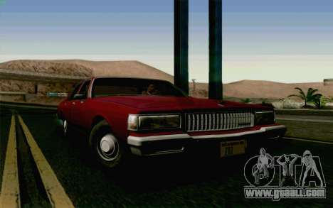 Chevrolet Caprice 1987 for GTA San Andreas back view