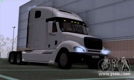 Freightliner Columbia for GTA San Andreas back left view