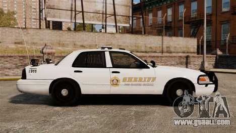 GTA V sheriff car [ELS] for GTA 4 left view