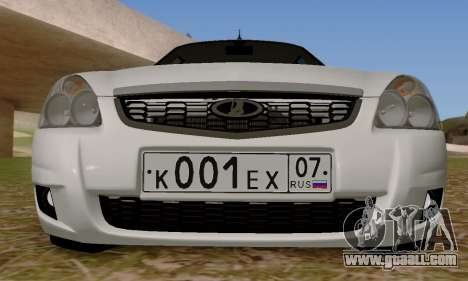 LADA 2170 new suite for GTA San Andreas right view