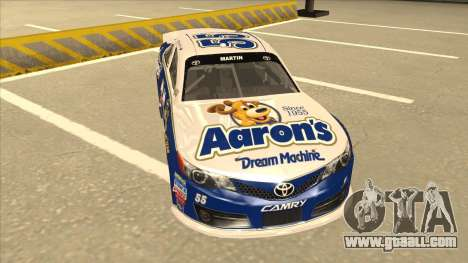 Toyota Camry NASCAR No. 55 Aarons DM blue-white for GTA San Andreas left view