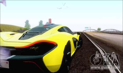 McLaren P1 EPM for GTA San Andreas upper view