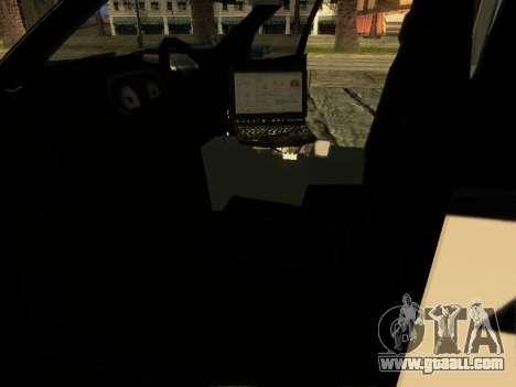 Ford Explorer 2010 Police Interceptor for GTA San Andreas inner view