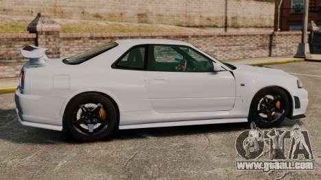 Nissan Skyline R34 GT-R NISMO Z-tune for GTA 4 left view