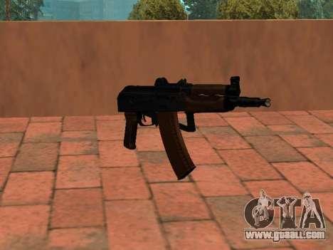 AKS-74U mm for GTA San Andreas second screenshot