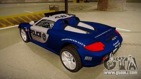 Porsche Carrera GT 2004 Police Blue for GTA San Andreas back view