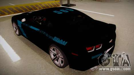 Chevrolet Camaro ZL1 2012 RCPD V1.0 for GTA San Andreas back view