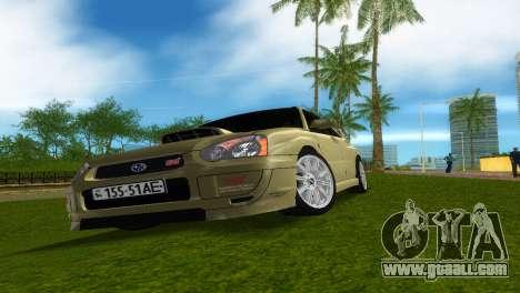 Subaru Impreza WRX STi for GTA Vice City inner view