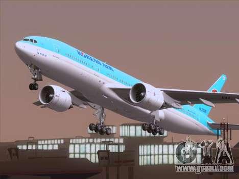 Boeing 777-2B5ER Korean Air for GTA San Andreas side view