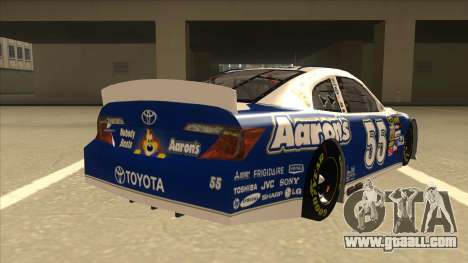 Toyota Camry NASCAR No. 55 Aarons DM blue-white for GTA San Andreas right view