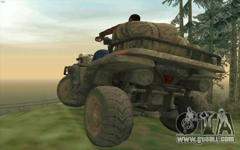 ATV of the Medal of Honor for GTA San Andreas back view