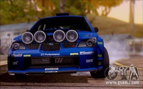 Subaru Impreza WRX STI WRC for GTA San Andreas right view