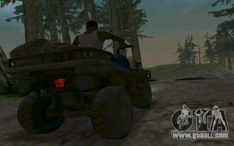 ATV of the Medal of Honor for GTA San Andreas inner view