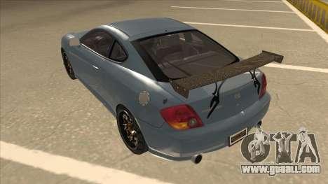 Hyundai Coupe V6 Soft Tuned v1 for GTA San Andreas back view
