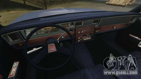Chevrolet Caprice Brougham 1986 for GTA 4 inner view