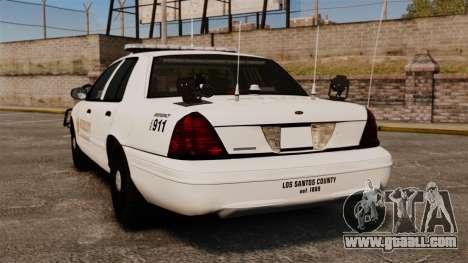 GTA V sheriff car [ELS] for GTA 4 back left view