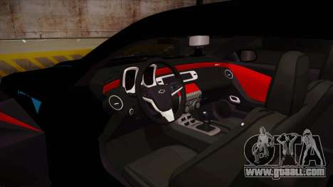 Chevrolet Camaro ZL1 2012 RCPD V1.0 for GTA San Andreas inner view