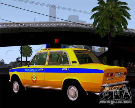 VAZ 21011 Police for GTA San Andreas back left view