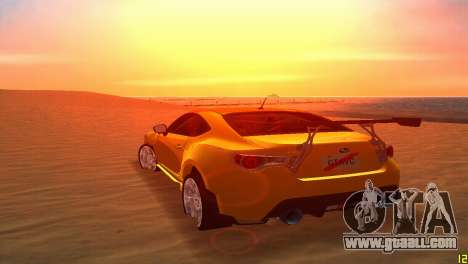Subaru BRZ Type 5 for GTA Vice City side view