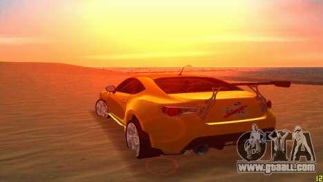 Subaru BRZ Type 5 for GTA Vice City side view